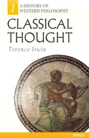 Cover of: Classical thought | Terence Irwin