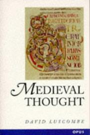 Cover of: Medieval thought