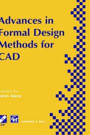 Cover of: Advances in Formal Design Methods for CAD