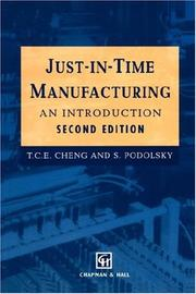 Cover of: Just-in-time manufacturing