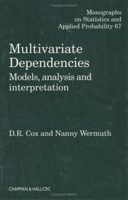 Cover of: Multivariate Dependencies | D.R Cox