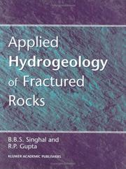 Cover of: Applied hydrogeology of fractured rocks