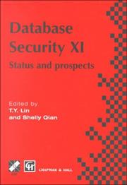 Cover of: Database security XI