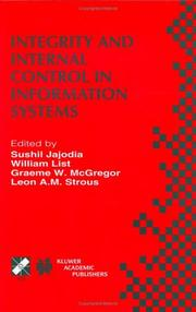 Cover of: Integrity and Internal Control in Information Systems (IFIP International Federation for Information Processing) |