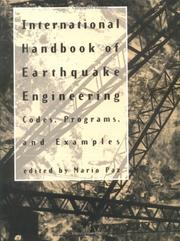 Cover of: International handbook of earthquake engineering |