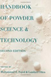 Cover of: Handbook of powder science & technology |
