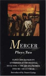 Cover of: Mercer Plays 2 | David Mercer
