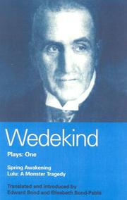 Cover of: Wedekind Plays: One