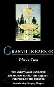 Cover of: Granville Barker