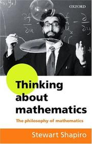 Cover of: Thinking about Mathematics
