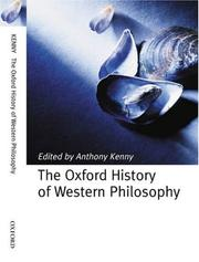 Cover of: The Oxford History of Western Philosophy