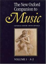 Cover of: The New Oxford companion to music | Denis Arnold