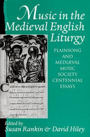 Cover of: Music in the medieval English liturgy |