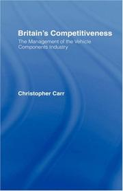 Cover of: Britain's Competitiveness