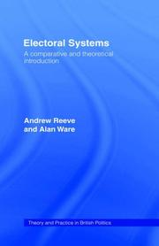 Cover of: Electoral systems | Andrew Reeve