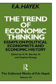 Cover of: The trend of economic thinking: essays on political economists and economic history