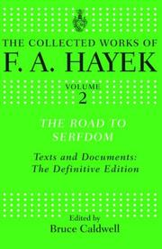 Cover of: The Road to Serfdom: Text and Documents