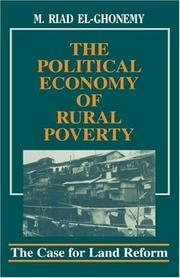 Cover of: The Political Economy of Rural Poverty