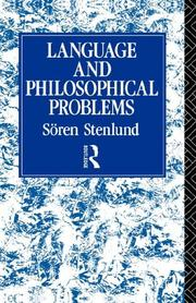 Cover of: Language and Philosophical Problems
