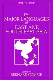 Cover of: The Major Languages of East and South-East Asia (The Major Languages)