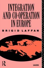 Cover of: Integration and co-operation in Europe