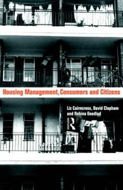 Cover of: Housing Management, Consumers and Citizens | Liz Caincross