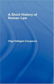 Cover of: A short history of Roman law