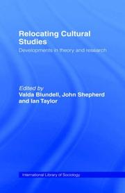 Cover of: Relocating cultural studies |