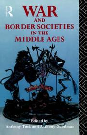 Cover of: War and Border Societies