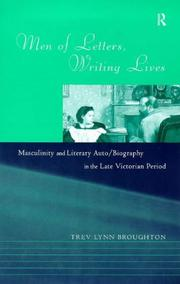 Cover of: Men of letters, writing lives