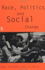 Cover of: Race, politics, and social change