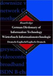 Cover of: Routledge German dictionary of information technology = |