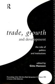 Cover of: Trade, Growth and Development