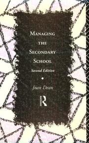 Cover of: Managing the secondary school