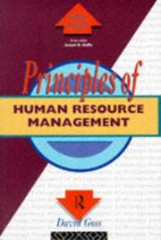 Cover of: Principles of human resource management