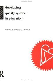Cover of: Developing Quality Systems and Educational Organisations