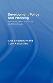 Cover of: Development Policy and Planning | Anis Chowdhury