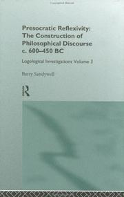 Cover of: Presocratic reflexivity