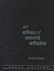 Cover of: An Atlas of World Affairs