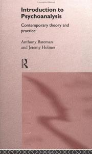 Cover of: Introduction to psychoanalysis