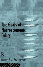 Cover of: The goals of macroeconomic policy