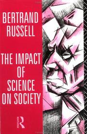 Cover of: The impact of science on society