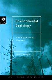 Cover of: Environmental sociology