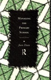 Cover of: Managing the primary school