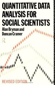 Quantitative data analysis for social scientists by Alan Bryman