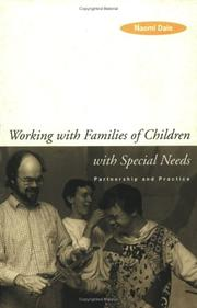 Cover of: Working with Families of Children with Special Needs