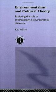 Cover of: Environmentalism and cultural theory