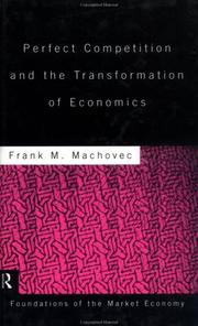 Cover of: Perfect competition and the transformation of economics