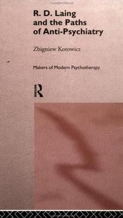 Cover of: R.D. Laing and the paths of anti-psychiatry