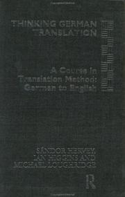 Cover of: Thinking German translation